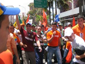 Leopoldo López en la caminata del 10 de junio de Caracas