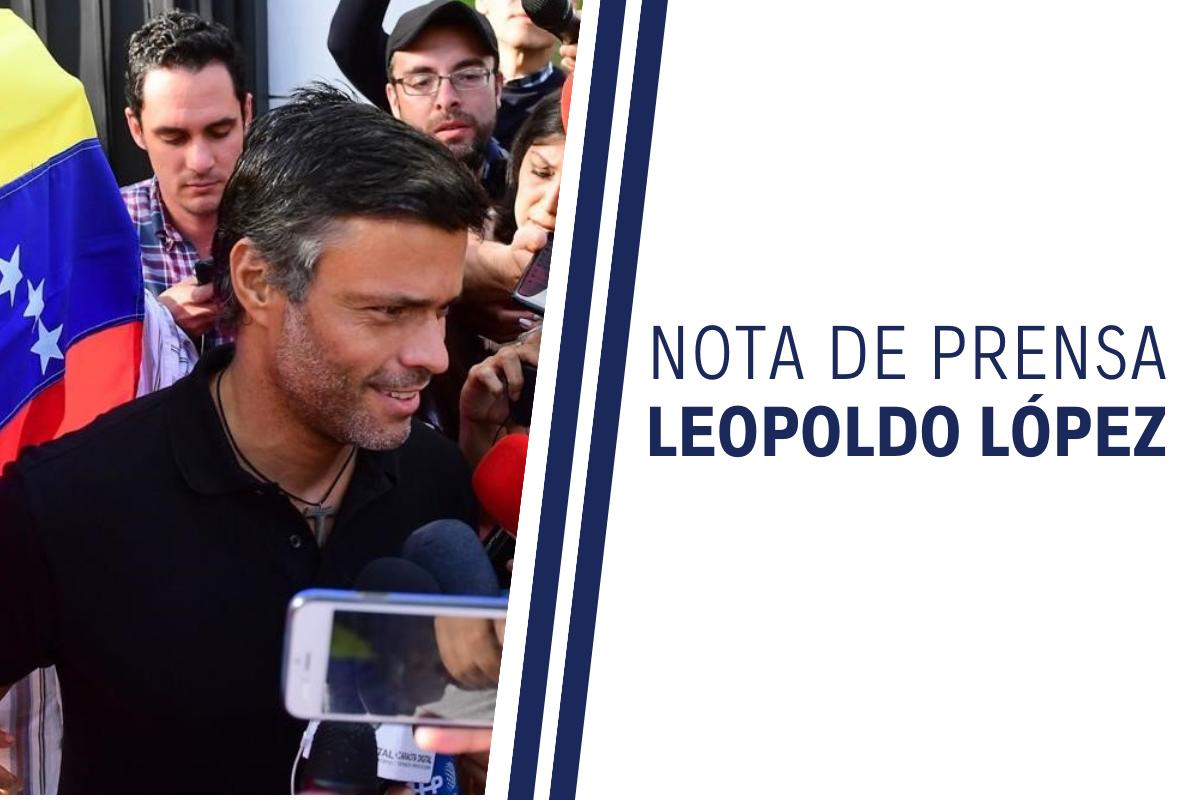 Leopoldo López hablará mañana a los venezolanos desde Madrid