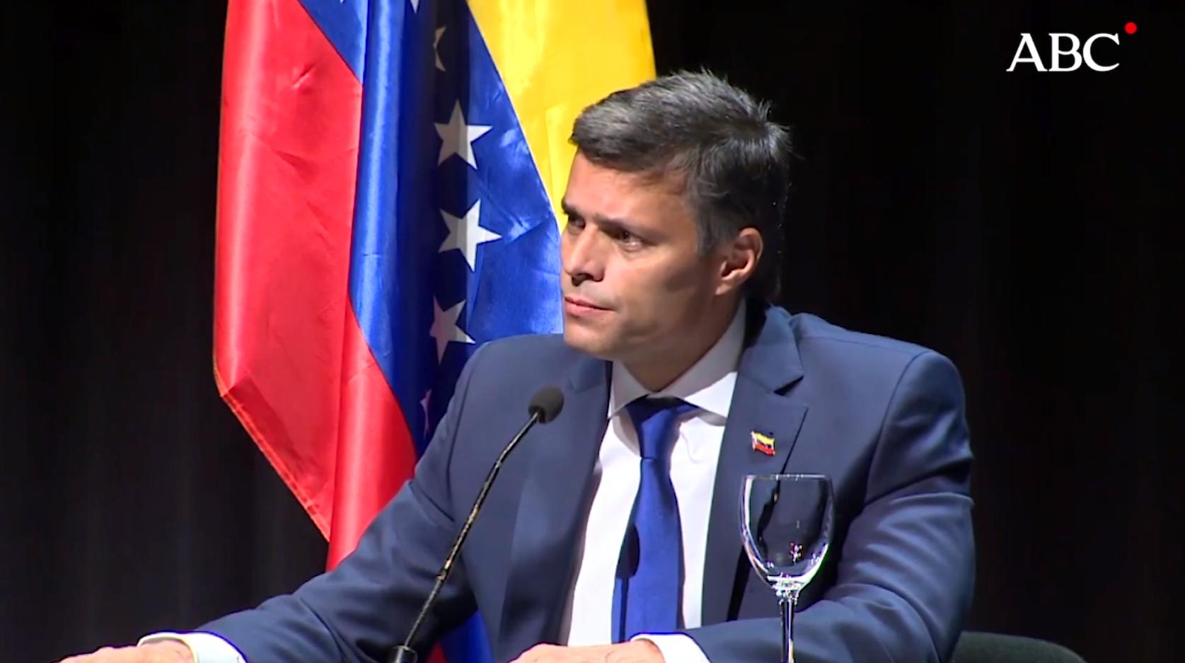 ABC | Leopoldo López: «Queremos para Venezuela lo mismo que en Bolivia: elecciones libres»