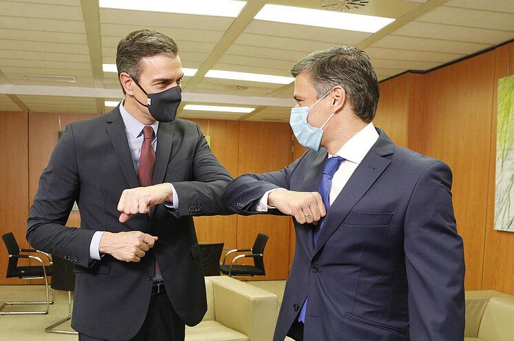 Leopoldo López se reúne con Pedro Sánchez, presidente de España