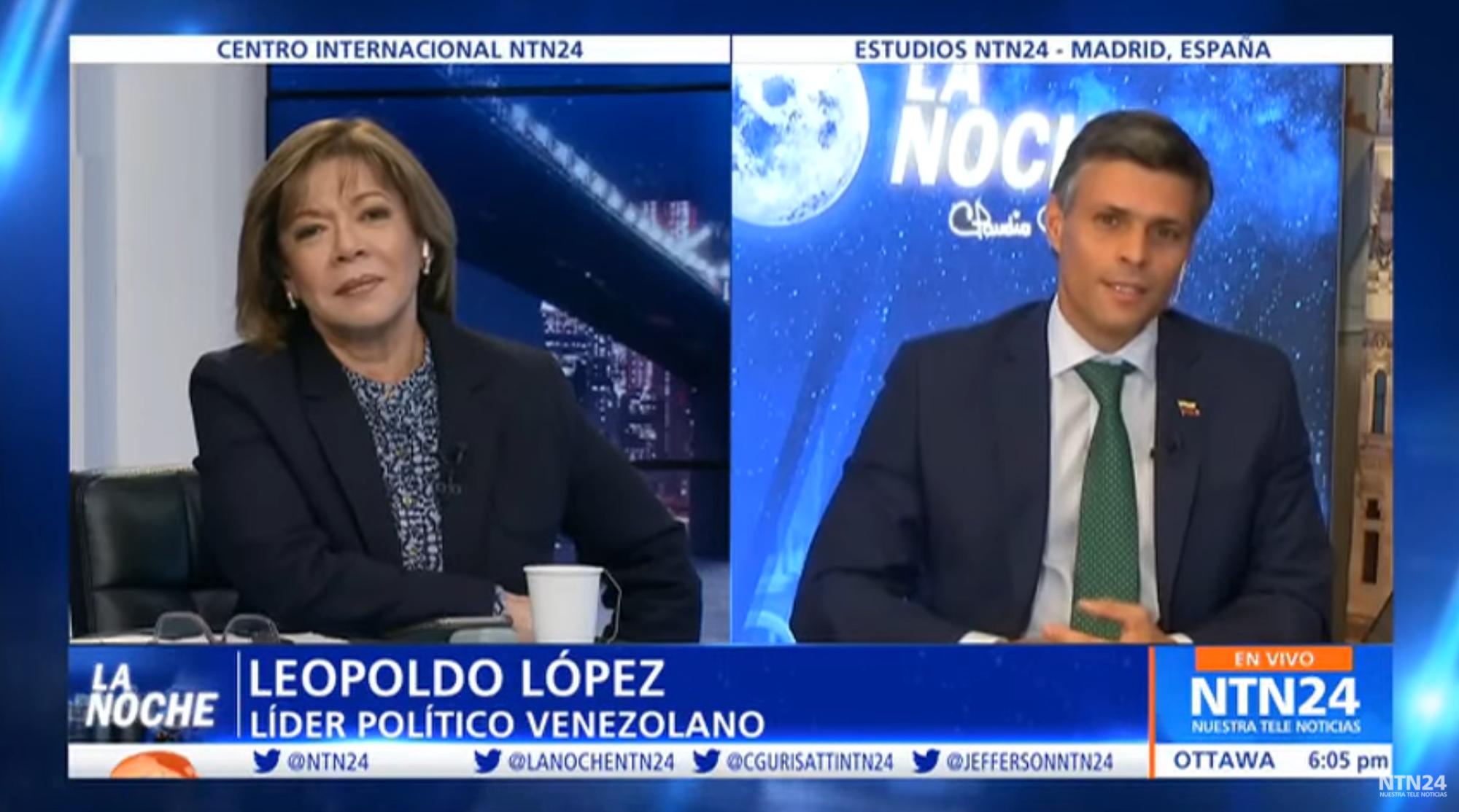 """NTN24   """"La cárcel me acercó mucho más a mi familia"""": Leopoldo López"""